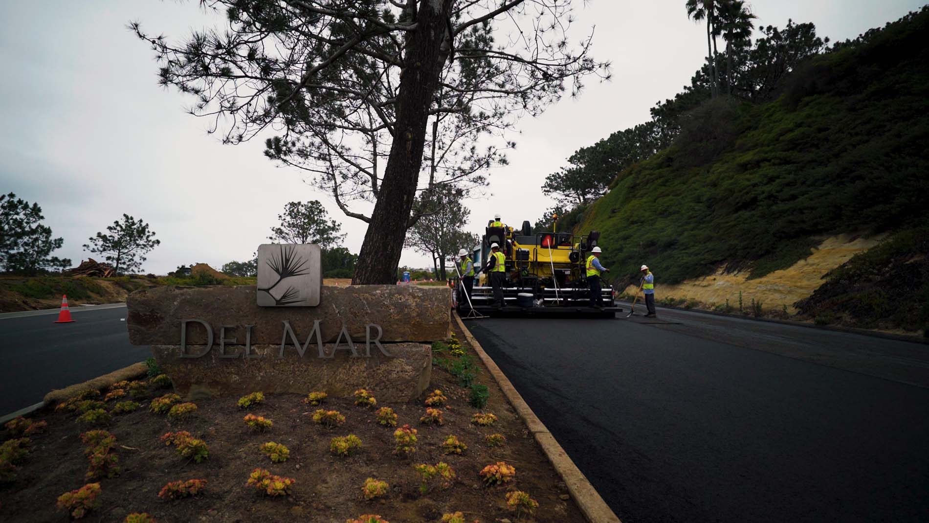 Paving pics  Del Mar Sign